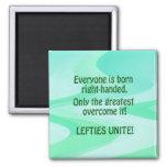 Lefties Unite 2 Inch Square Magnet