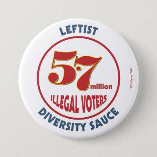 Leftist Diversity Sauce button 3-inch