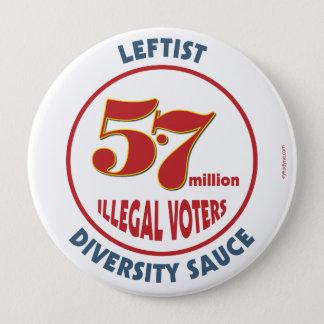 Leftist Diversity Sauce button 4-inch