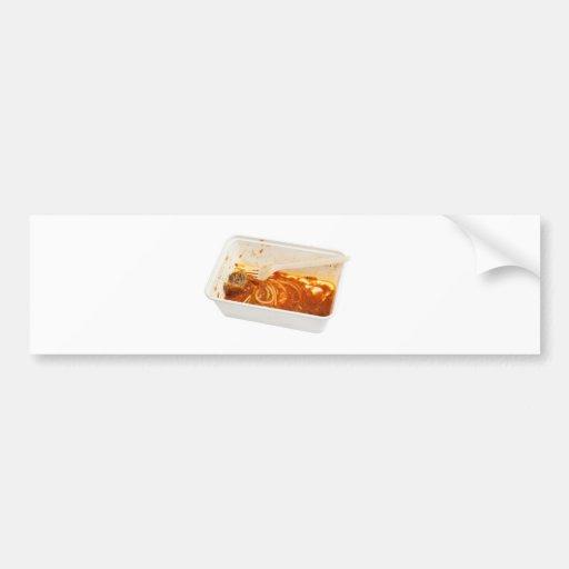 Leftover meatball spaghetti car bumper sticker