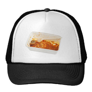 Leftover meatball spaghetti trucker hats