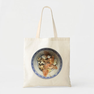 Leftover Quail´s eggs and onion skins Tote Bag