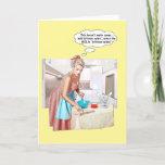 "Leftover wine? holiday card<br><div class=""desc"">A great funny retro look female humor design.</div>"