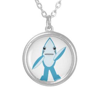 #LeftShark #RightShark Left Shark Right Shark Silver Plated Necklace