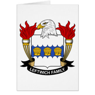 Leftwich Family Crest Card