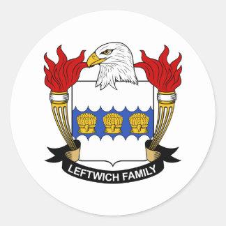 Leftwich Family Crest Classic Round Sticker