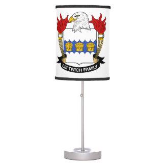 Leftwich Family Crest Desk Lamps