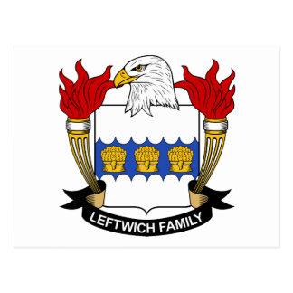 Leftwich Family Crest Postcard