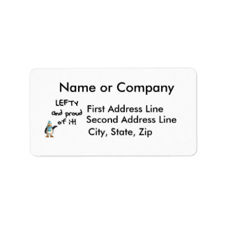 Lefty and Proud of it! Left handed funny sayings Custom Address Label