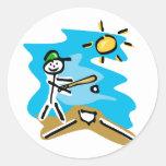Lefty Batter Classic Round Sticker