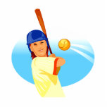Lefty Girl Batting.png Acrylic Cut Out