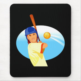 Lefty Girl Batting.png Mouse Pad