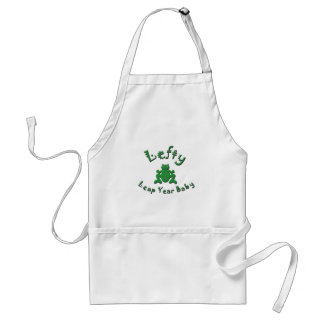 Lefty Leap Year Baby Adult Apron