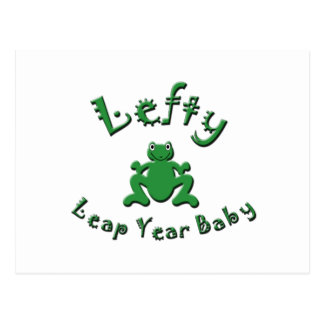 Lefty Leap Year Baby Postcard