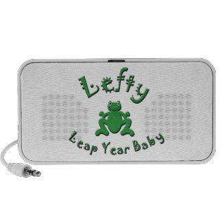 Lefty Leap Year Baby Travel Speakers