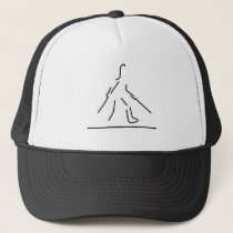 leg broken fracture gypsum trucker hat