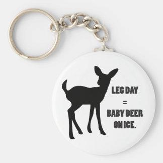 Leg Day = Baby Deer on Ice Keychain