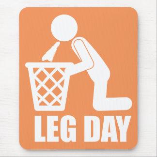 Leg Day - Bodybuilding Workout - Puke Mouse Pad