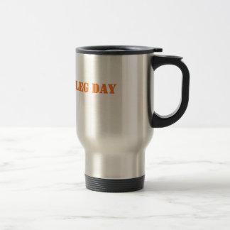 leg day orange travel mug