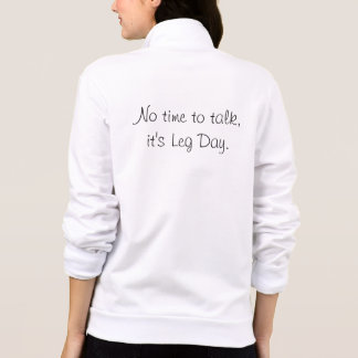 Leg Day Zip Sweater Printed Jacket