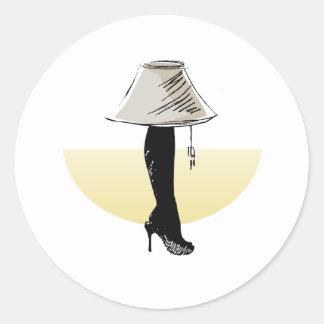 Leg lamp round sticker