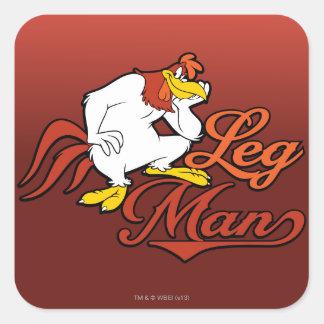 Leg Man Square Sticker