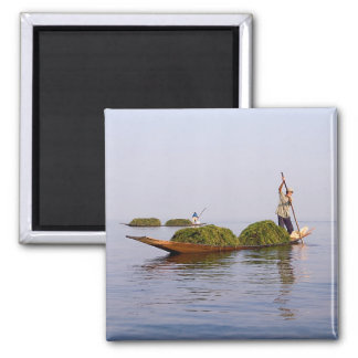 Leg Rower on Inle Lake Magnet