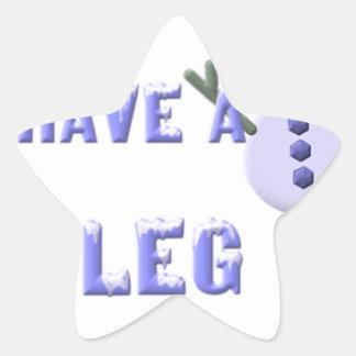 Leg To Stand On, snowman 2 Star Sticker