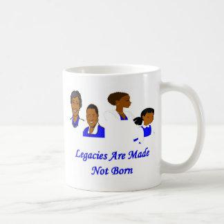 Legacies are made classic white coffee mug