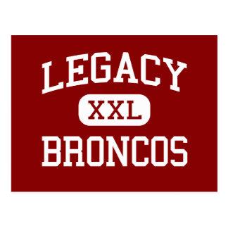 Legacy - Broncos - High School - Mansfield Texas Postcard
