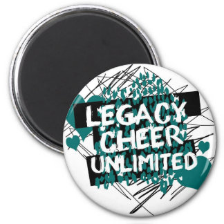 Legacy Cheer Graffiti Design 2 Inch Round Magnet