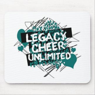 Legacy Cheer Graffiti Design Mouse Pad