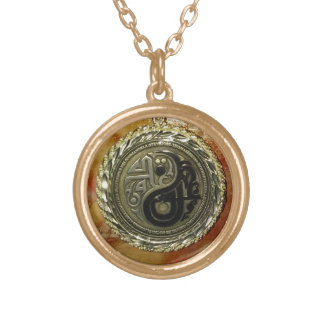 Legacy Coin Yin/Yang Gold Plated Necklace