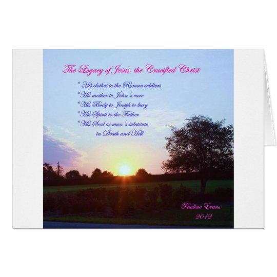LEGACY OF JESUS NOTE CARD