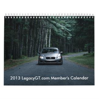 LegacyGT.com 2013 Member's Calendar
