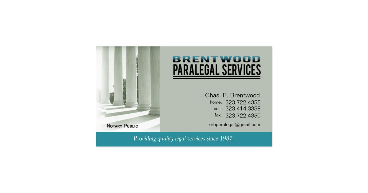 Legal1 paralegal law office services notary public for Paralegal business cards