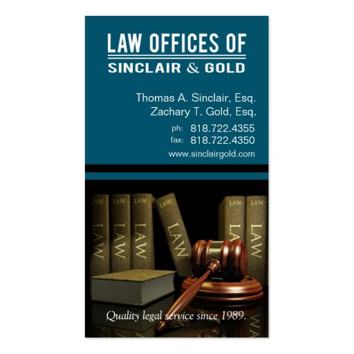 Legal3 Law Offices of Attorney - Lawyer Business Card