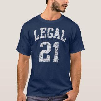 Legal 21 funny birthday t shirt