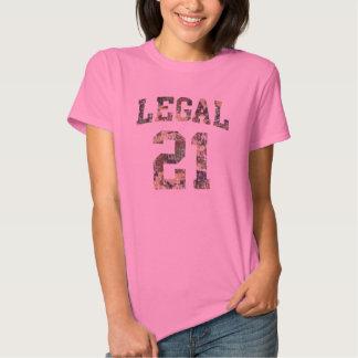 Legal 21 funny birthday t-shirts