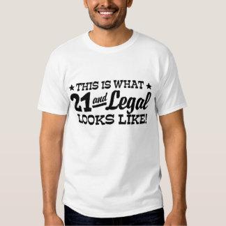 Legal 21 t shirt