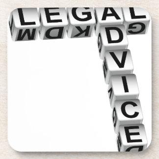 Legal Advice Dice Graphic Coaster