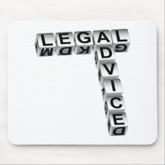 Legal Advice Dice Graphic Mouse Pad