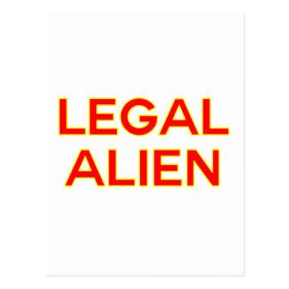 Legal Alien | Funny Take on Immigration Reform Postcard
