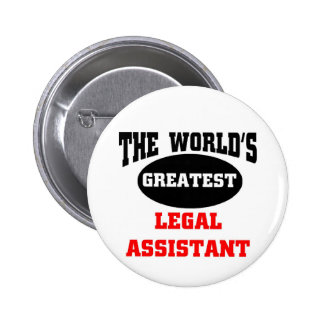 Legal assistant 2 inch round button