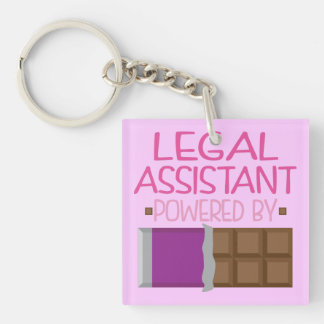 Legal Assistant Chocolate Gift for Her Keychain