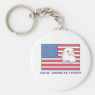 legal citizen basic round button keychain