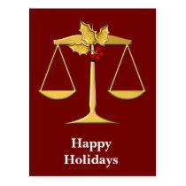 Legal Corporate Christmas Greetings Postcard