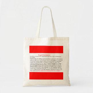 Legal Disclaimer Tote Bag