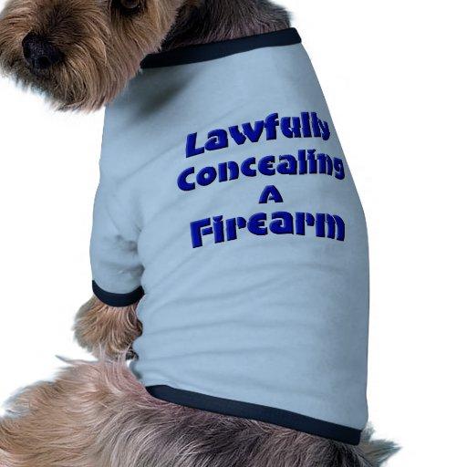 Legal disimulación de un arma de fuego camiseta con mangas para perro