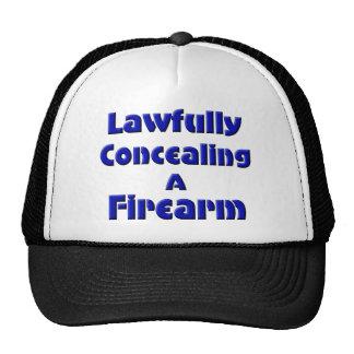 Legal disimulación de un arma de fuego gorro de camionero